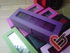 New Watch Box Organizer Isi 6 Purple Jogja Handycraft