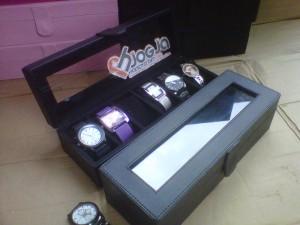 Full Black Watch Box Organizer For 6 Watches