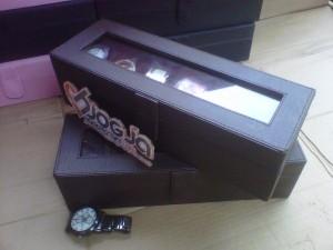 Full Dark Brown Kotak Jam Isi 6