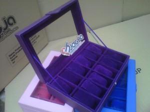 Full Purple Box Tempat Jam Isi 12