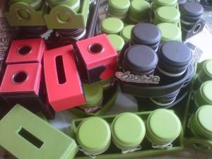 Set Toples Vinyl Cantik Jogja Handycraft Box Tissue dan Set Toples Long Isi 3