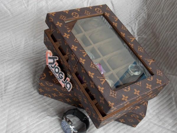LV MONOGRAM WATCH BOX ORGANIZER FOR 12 WATCHES