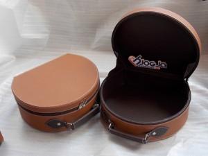 Vintage Leather (imitation) Box Oval