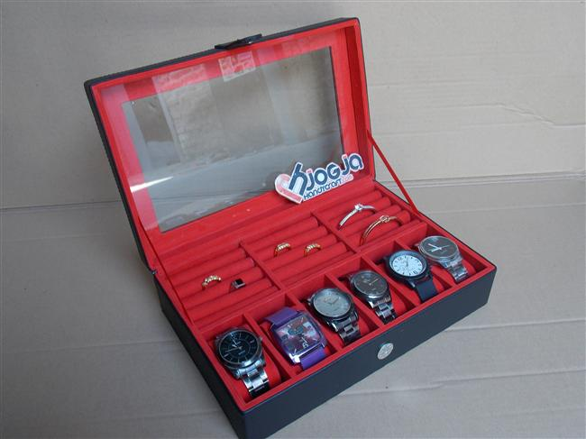 Photo of New Watch Box Mix Ring Organizer | Box Jam Kombinasi Tempat Cincin