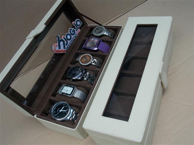 Photo of Brocken White Watch Box For 6 Watches | Tempat Jam Tangan Isi 6