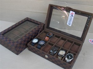 LV DAMIER WATCH BOX ORGANIZER FOR 12 WATCHES