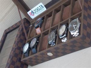 LV DAMIER WATCH BOX ORGANIZER FOR 12 WATCHES