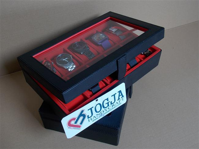 Photo of Black Inner Red Large Size Watch Box For 10 Sport Watches