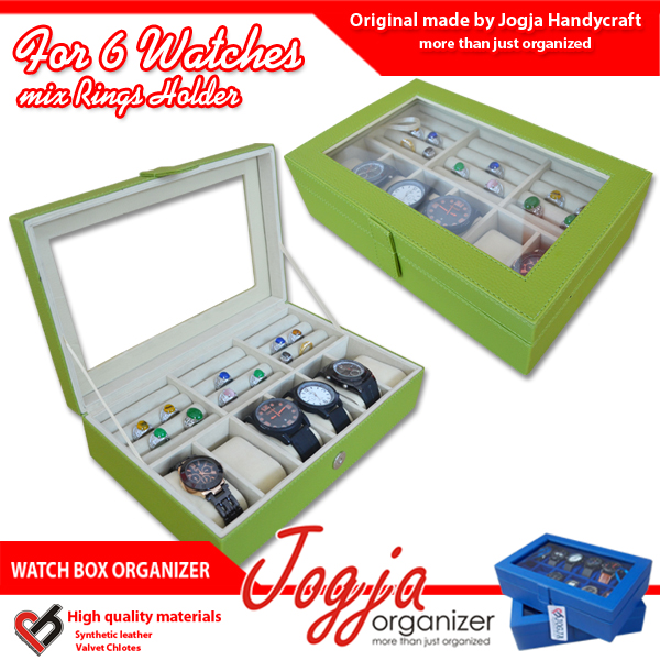 New Watch Box Mix Ring Organizer | Box Jam Kombinasi Tempat Cincin