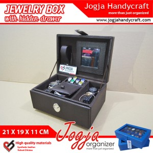 Full Black Jewlery Box With Hidden Drawer