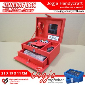 Full Red Jewlery Box With Hidden Drawer