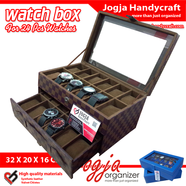 Photo of LV Damier Watch Box For 24 Watches – Kotak Jam Tangan Susun Isi 24