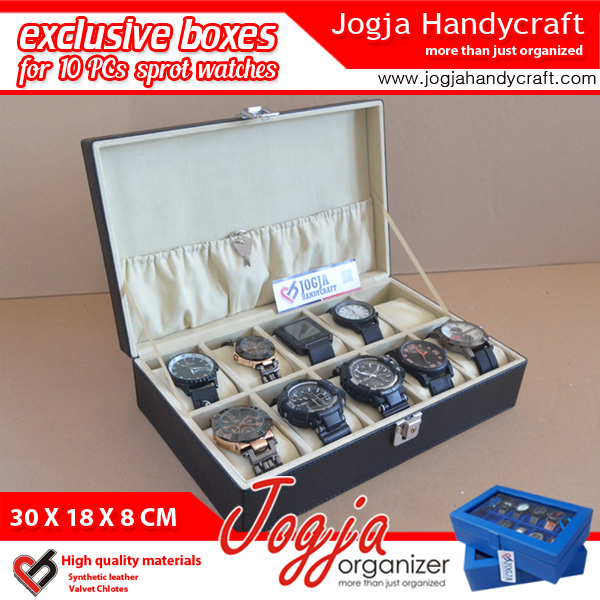Photo of Exclusive Large Size Watch Box With Lock | Kotak Tempat Jam Tangan