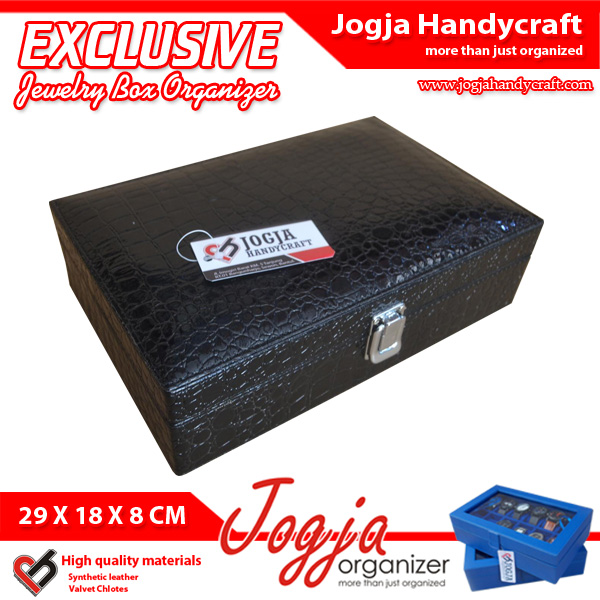 EXCLUSIVE JEWELRY BOXES CROCO MOTIF | Tempat Perhiasan Dan Accesories