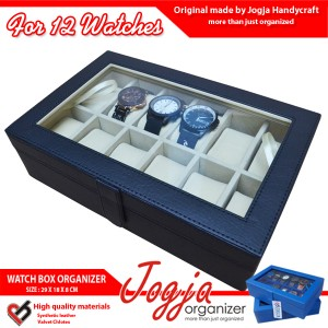 Kotak Jam Tangan isi 12 Black Cream