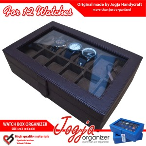 Kotak Jam Tangan isi 12 Coklat Full