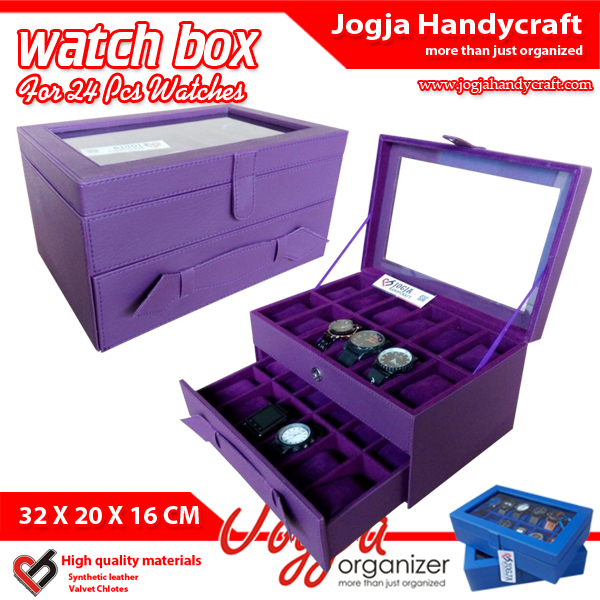 Photo of Cute Purple Watch Box For 24 Watches / Kotak Jam Tangan Isi 24