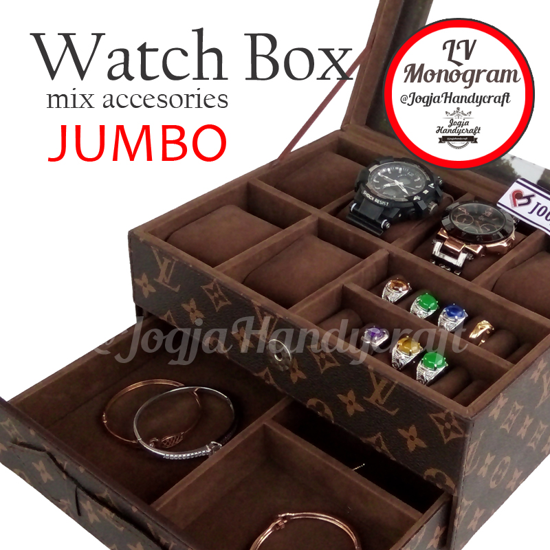 Photo of Kotak Tempat Jam Tangan Sport mix Tempat Perhiasan LV Monogram