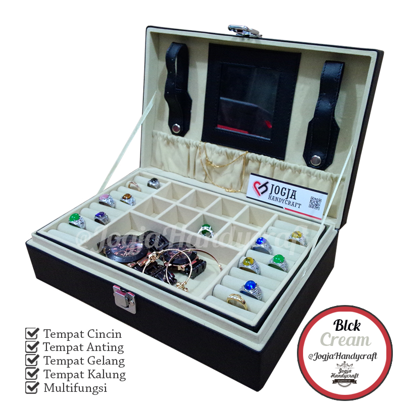 Photo of Exclusive Black Cream Jewelry Box | Kotak Tempat Perhiasan Dan Accesories
