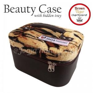 Tas Kosmetik Cantik Motif Tiger Mewah | Traveller Makeup Organizer