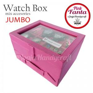 Kotak Tempat Jam Tangan Sport mix Tempat Perhiasan Susun Fanta
