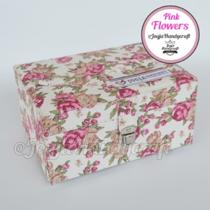 Pink Flowers Jewellery Box | Kotak Tempat Perhiasan & Accesories
