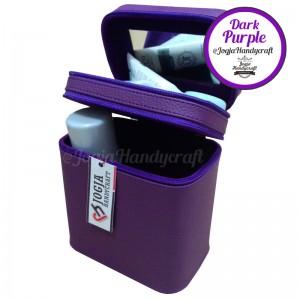 Makeup Pouch - Tas Kosmetik Susun Double Compartmen [Purple]