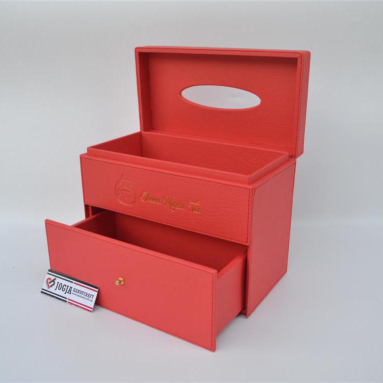 Photo of Kotak tissue tingkat berlaci cantik untuk souvenir dan hamper